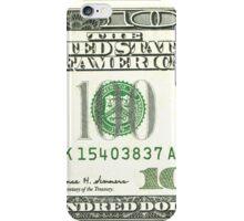 100 dollar bill iPhone Case/Skin