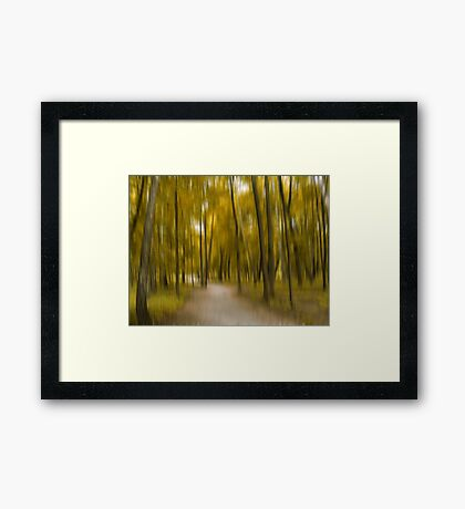 Forrest in Motion, Moscow (yellow) Framed Print