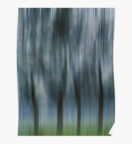 Four Trees, Budapest (blue & green) Poster