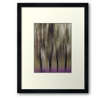 Four Trees, Budapest (purple & brown) Framed Print