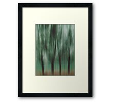 Four Trees, Budapest (green & brown) Framed Print