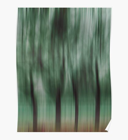 Four Trees, Budapest (green & brown) Poster