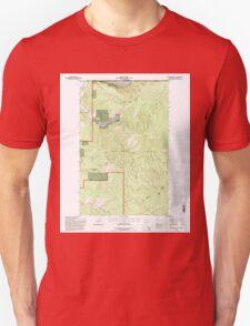 USGS Topo Map Washington State WA Boundary Mtn 240173 1992 24000 Unisex T-Shirt