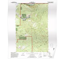 USGS Topo Map Washington State WA Boundary Mtn 240173 1992 24000 Poster