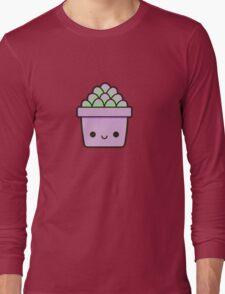 Succulent in cute pot Long Sleeve T-Shirt