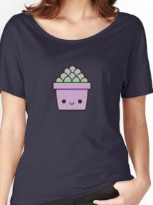 Succulent in cute pot Women's Relaxed Fit T-Shirt