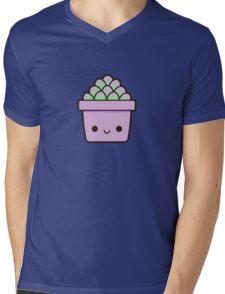 Succulent in cute pot Mens V-Neck T-Shirt