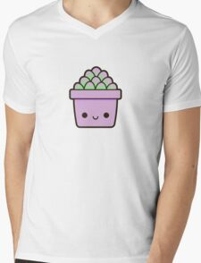 Succulent in cute pot Mens V-Neck T-Shirt