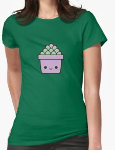 Succulent in cute pot Womens Fitted T-Shirt