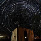 Pump Shed Star Trail by Bill  Robinson