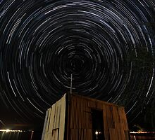 Pump Shed Star Trail by Bill  Robinson