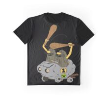Captain Caveman Car Graphic T-Shirt