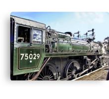 The Green Knight Locomotive Canvas Print
