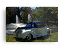 1938 Ford Custom Coupe Hot Rod Metal Print