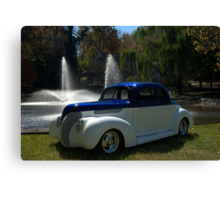 1938 Ford Custom Coupe Hot Rod Canvas Print