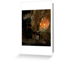 Rhone Wine and 2 Candles Greeting Card