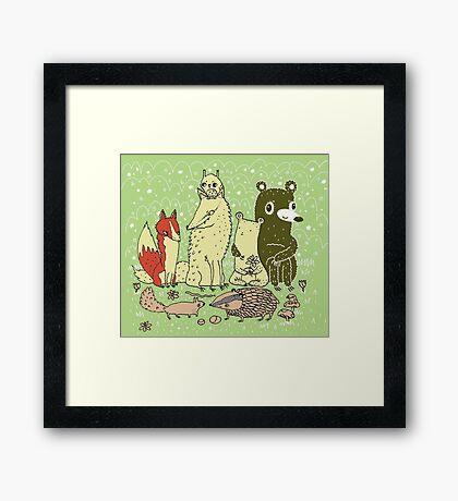Bramble Wood Gang Framed Print