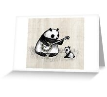 Banjo Panda Greeting Card