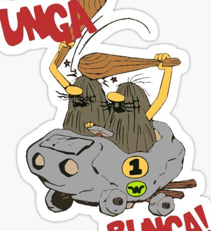 CAVEMAN Car : Unga Bunga version Sticker