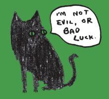 Black Cats Aren't Evil Kids Tee