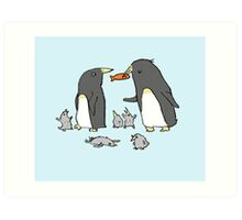 Penguin Family Art Print