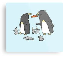Penguin Family Metal Print