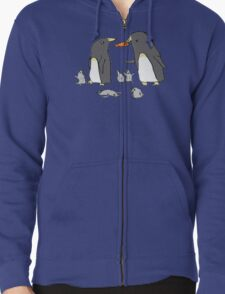 Penguin Family Zipped Hoodie
