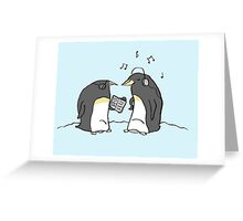 Waiting Penguins Greeting Card