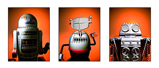 Retro Toy Robot Lineup 01 by mdkgraphics