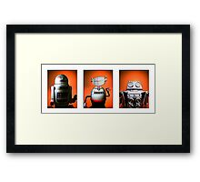 Retro Toy Robot Lineup 01 Framed Print