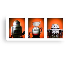 Retro Toy Robot Lineup 01 Canvas Print