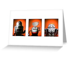 Retro Toy Robot Lineup 01 Greeting Card