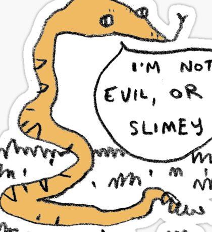 Snakes Aren't Evil Sticker