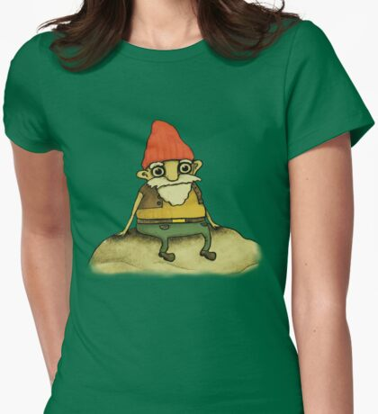 Garden Gnome Womens Fitted T-Shirt