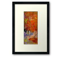 On Blue Pond Framed Print