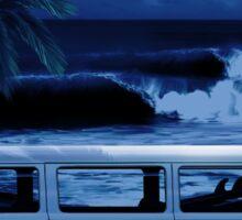 Furgoneta surf noche Sticker