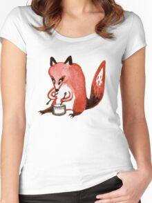 Drumming Fox Women's Fitted Scoop T-Shirt