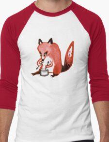 Drumming Fox Men's Baseball ¾ T-Shirt