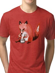 Drumming Fox Tri-blend T-Shirt