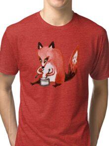 Drumming Fox Tri-blend T-Shirt