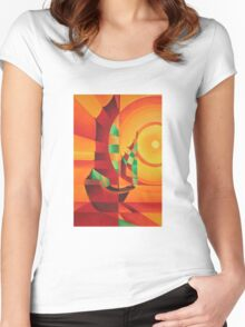 Cubist Junks on A Red Sea Women's Fitted Scoop T-Shirt
