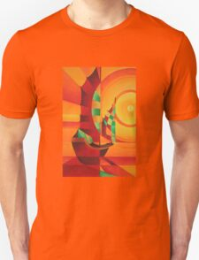 Cubist Junks on A Red Sea T-Shirt