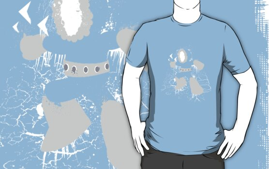 Ice Man Splattery Design by thedailyrobot