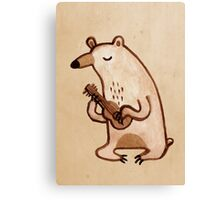 Ukulele Bear Canvas Print