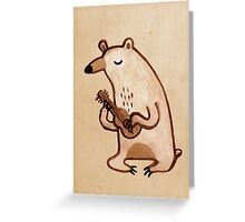 Ukulele Bear Greeting Card