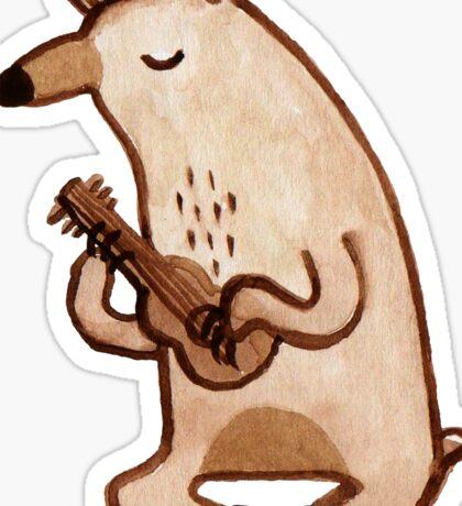 Ukulele Bear Sticker