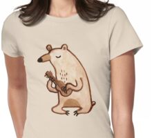 Ukulele Bear Womens Fitted T-Shirt