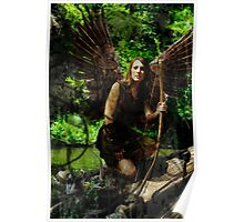 Wood Dryad By Cypress Tree Poster