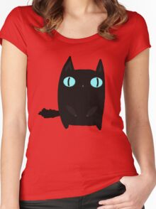 Fat Black Cat Women's Fitted Scoop T-Shirt