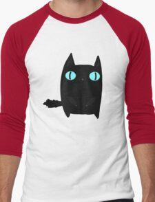 Fat Black Cat Men's Baseball ¾ T-Shirt
